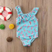 Toddler Kids Baby Girl One Piece Bikini Swimwear Swimsuit Bathing Suit Beachwear Bathing Suit Swimming Clothes недорого