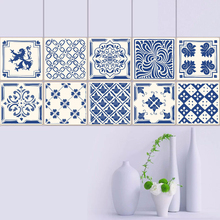 Europe Tiles Wall Stickers for Bathroom Kitchen DecorationSelf- Adhesive Waterproof PVC Waist Line DT034