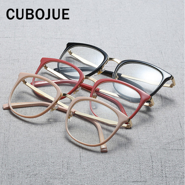 cb232b9f90a 2018 Small Face Acetate Glasses Women Vintage Eyeglasses Frame Female  Points Prescription Spectacles Myopia Eyewear Woman