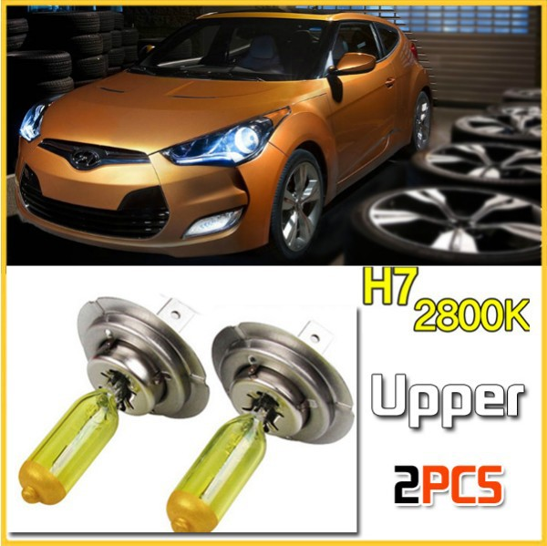 Car Styling Car Upper LED halogen bulb Lamp Premium yellow H7 2800k for Hyundai Veloster 2011 2012 2013 fog lamp clearance lamp