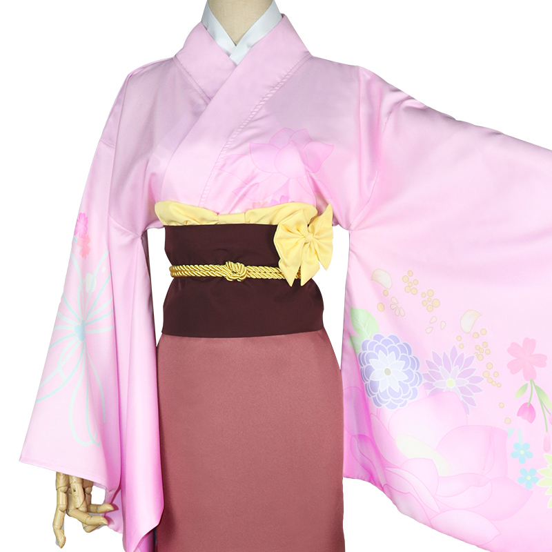 New Anime Konohana Kitan Cosplay Costume Ren Cospaly Yukata Kimono Women Dress For Halloween Aliexpress