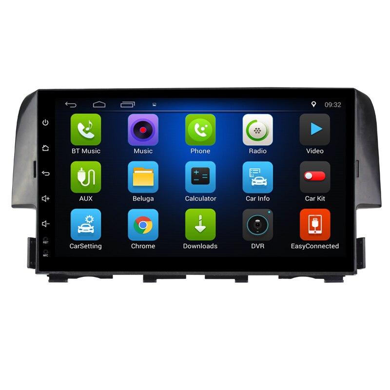 9 Android 7.0! Voiture DVD PC Multimédia Lecteur DVD GPS Navi Stéréo Radio Fit HONDA CIVIC 2016 2017 2018 2019 3g WIFI OBD DVR CARTES