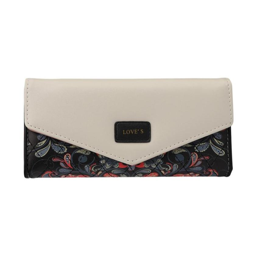Retro Cash Coin Hasp Fold Purse Pastoral Clutch Bag Women Wallets Envelope Buckle Purse  ...