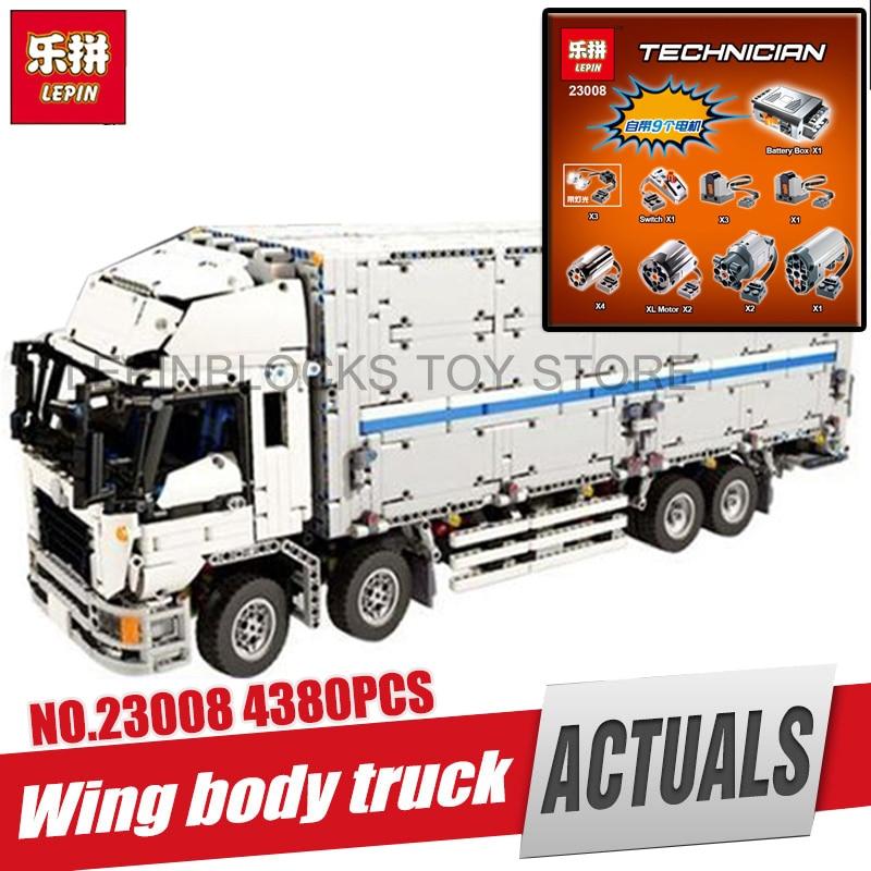 DHL LEPIN 23008 4380 pcs technique série MOC camion Modèle blocs de Construction Briques kits Compatible garçon brithday cadeaux legoing 1389