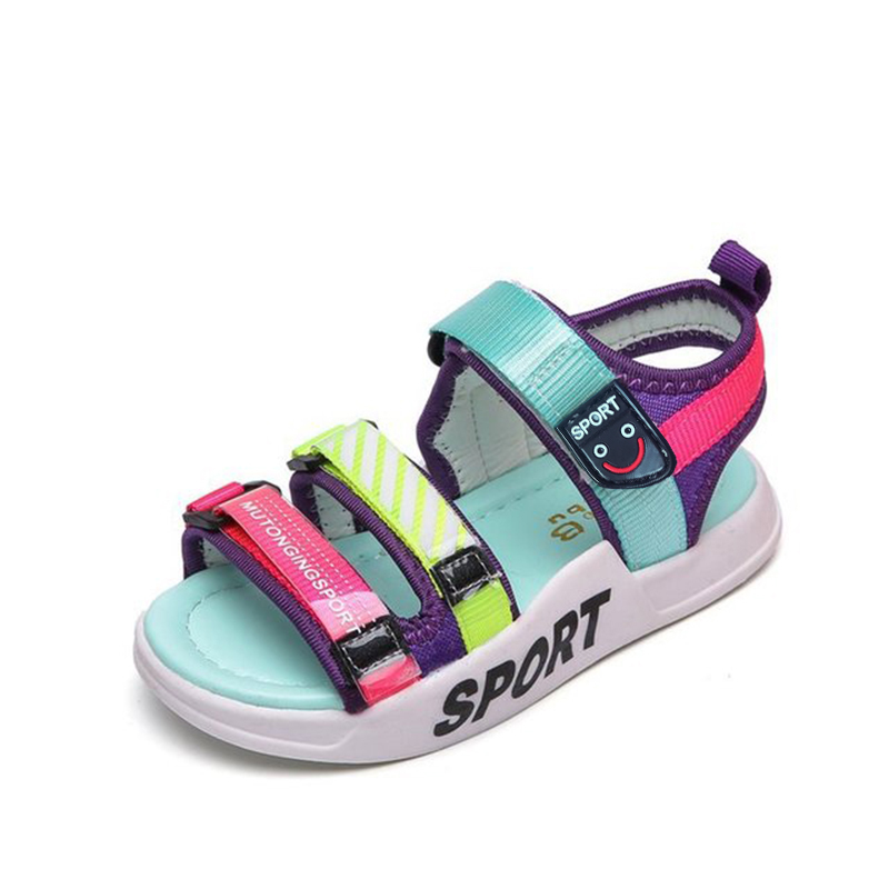 Bekamille Kids Shoes For Girl Baby Boys New Shoes Summer 2019 Mixed Color Explosive Comfortable Sandals Fluorescent Beach