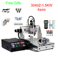 Mini cnc router machine 3040 cnc milling machine with handwheel control water-cooled spindle