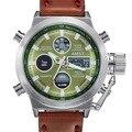 Часы Мужчины Моды Случайные Люксовый Бренд AMST Diver LED Мужчины Спорт Военная Кожаный Ремешок Водонепроницаемые Наручные часы Relogio Masculino