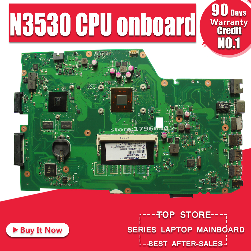For ASUS X751M X751MD K751M R752M F751M Mainboard W// N2940 GT820M 4GB Mainboard