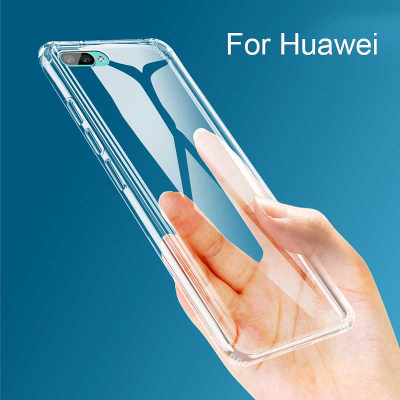 De silicona suave caso del TPU para Huawei Mate 20 Pro P30 P20 Pro Lite DE CASO DE TELÉFONO transparente para el Honor 8 8X Max 10 Lite 9 de la cubierta completa