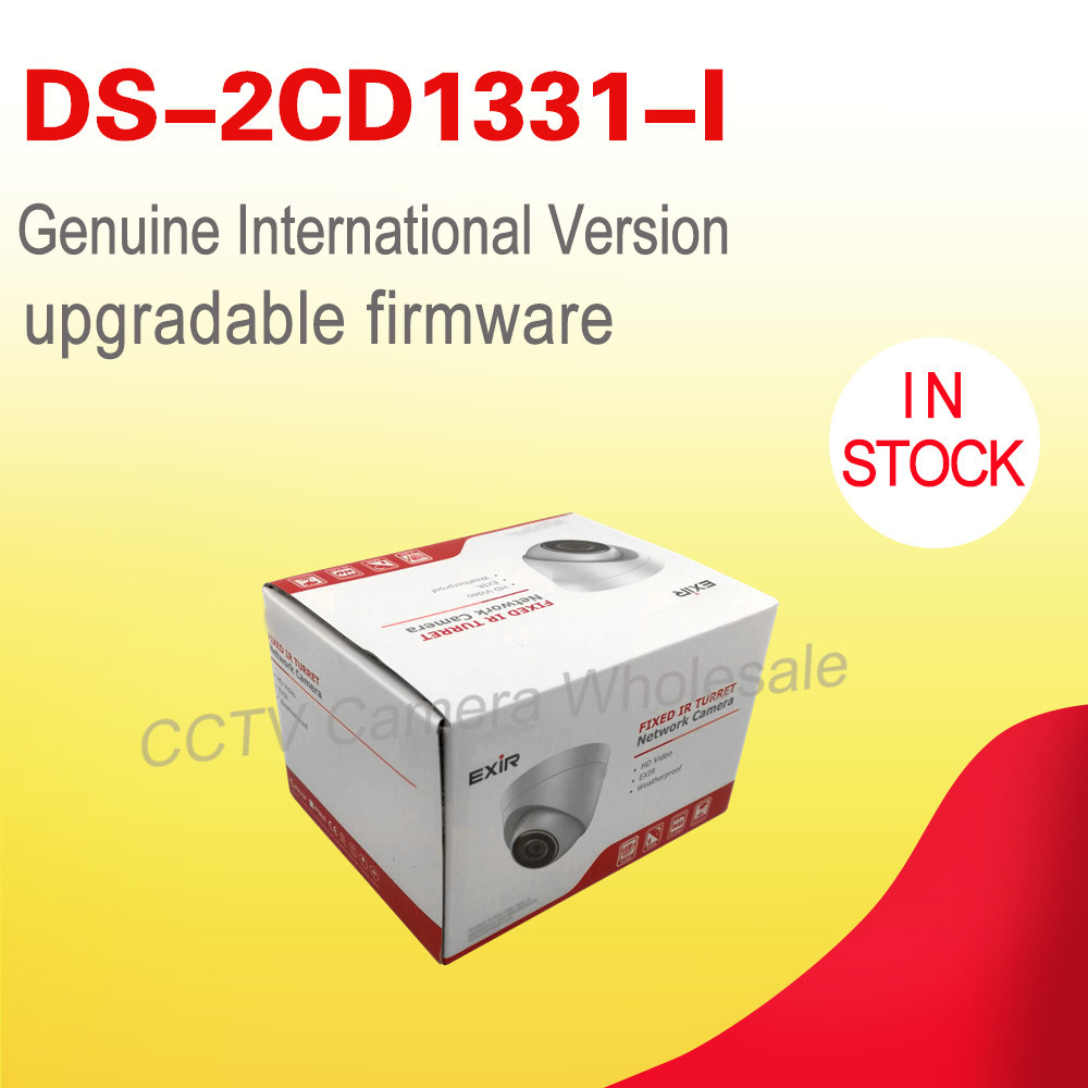 In stock English version 3MP CCTV camera DS-2CD1331-I replace DS-2CD2335-I, Network cctv turret camera Full HD1080p ,IP67,H.264+