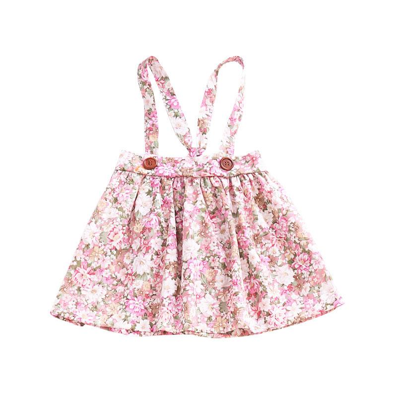 HTB10P0fd7fb uJkHFrdq6x2IVXaA - 1-4y Summer Children Clothing Floral Girl Skirt Cotton Cute Toddler Suspender Skirts for Baby Girls Clothing