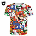 New Fashion Women/Men Cartoon 3D t shirt Super Mario on Shrooms T-Shirt tee Summer mens graphic T Shirts 3d Tees shirt tops