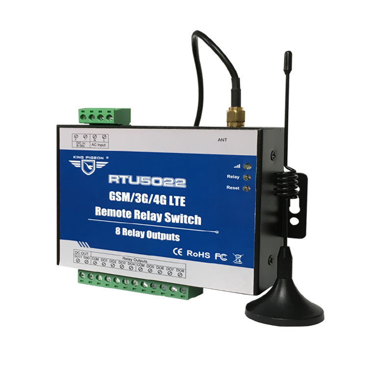 RTU5022 Free Shipping  GSM SMS GPRS 3G 4G Remote Relay Switch Can Be Operated From Anywhere No Distance Limitation s265 direct factory gsm sms gprs 3g 4g temperature