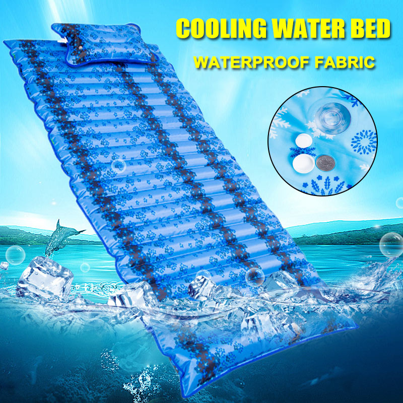 2 IN 1 Inflatable Cushion Foldable Outdoor Water Mattress Pad Water Dormitory Bed Floating Row YS-BUY