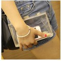 Fashion acrylic 2017  transparent box bag day clutch chain bag, women's handbag small bags