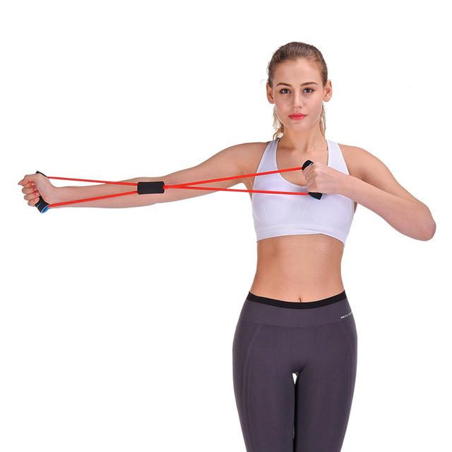 Home Fitness Rubber Hoop Resistance Band
