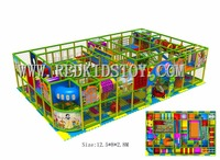 EU Standard Custom Made Commercial Indoor Playground With Tunnel/Slide/Trampoline/Ball Pit HZ 150602