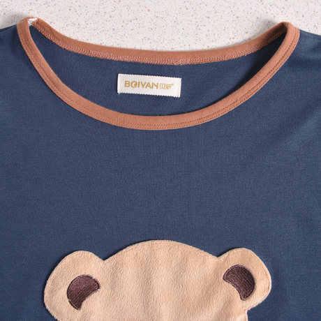 2019 ชายชุดนอน Pijama Verano Hombre จัดส่งฟรีผ้าฝ้าย 100% การ์ตูน Bennie Bear สีคนรักชุดนอนชุด 01