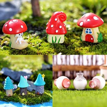 3Pcs/Set Vase House Miniature Fairy Garden Micro Landscaping Decor DIY Ornament