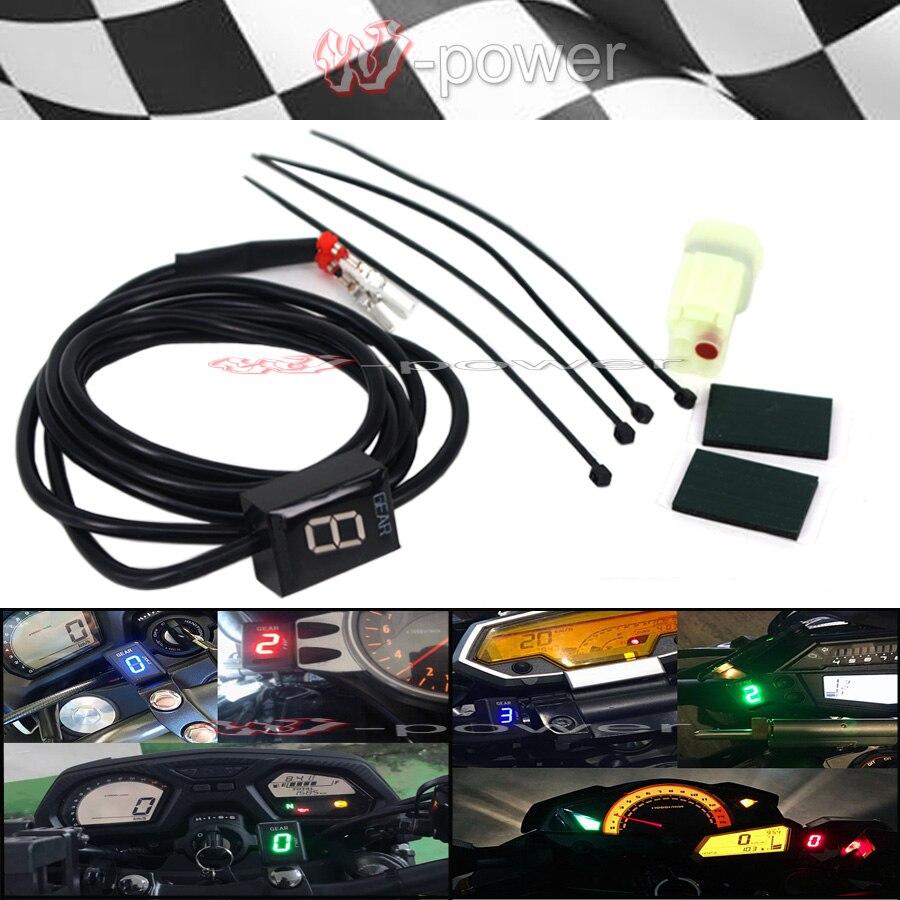 Motorcycle 1-6 Level Ecu Plug Mount Speed Gear Display Indicator For Kawasaki KLE650 Z300 Z250 Z250SL Z750 Z 300 250 250SL 750