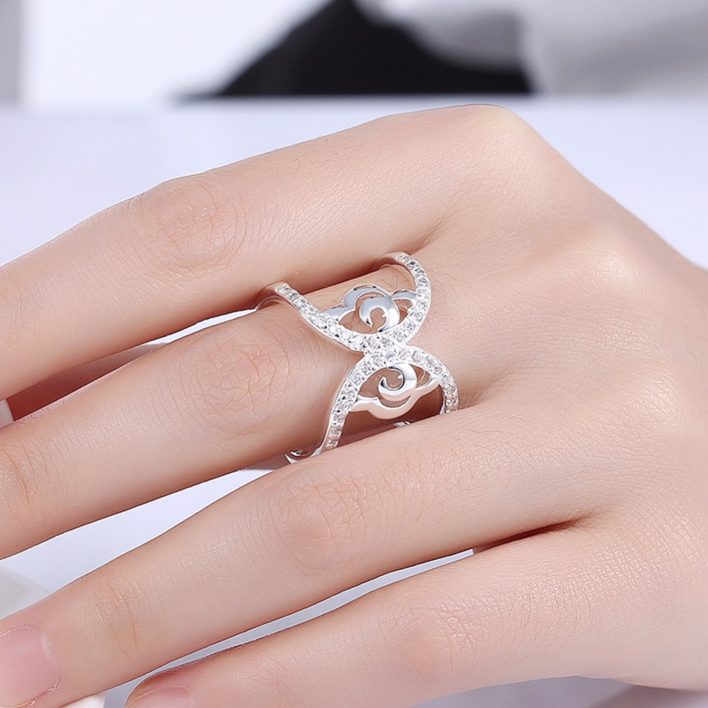 Filled Clear CZ Butterfly Rings 2017 New Jewelry 925 solid silver ...