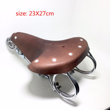 bicycle saddle 100% leather Vintage elephant spring genuine leather spring old style bicycle saddle genuine leather saddle
