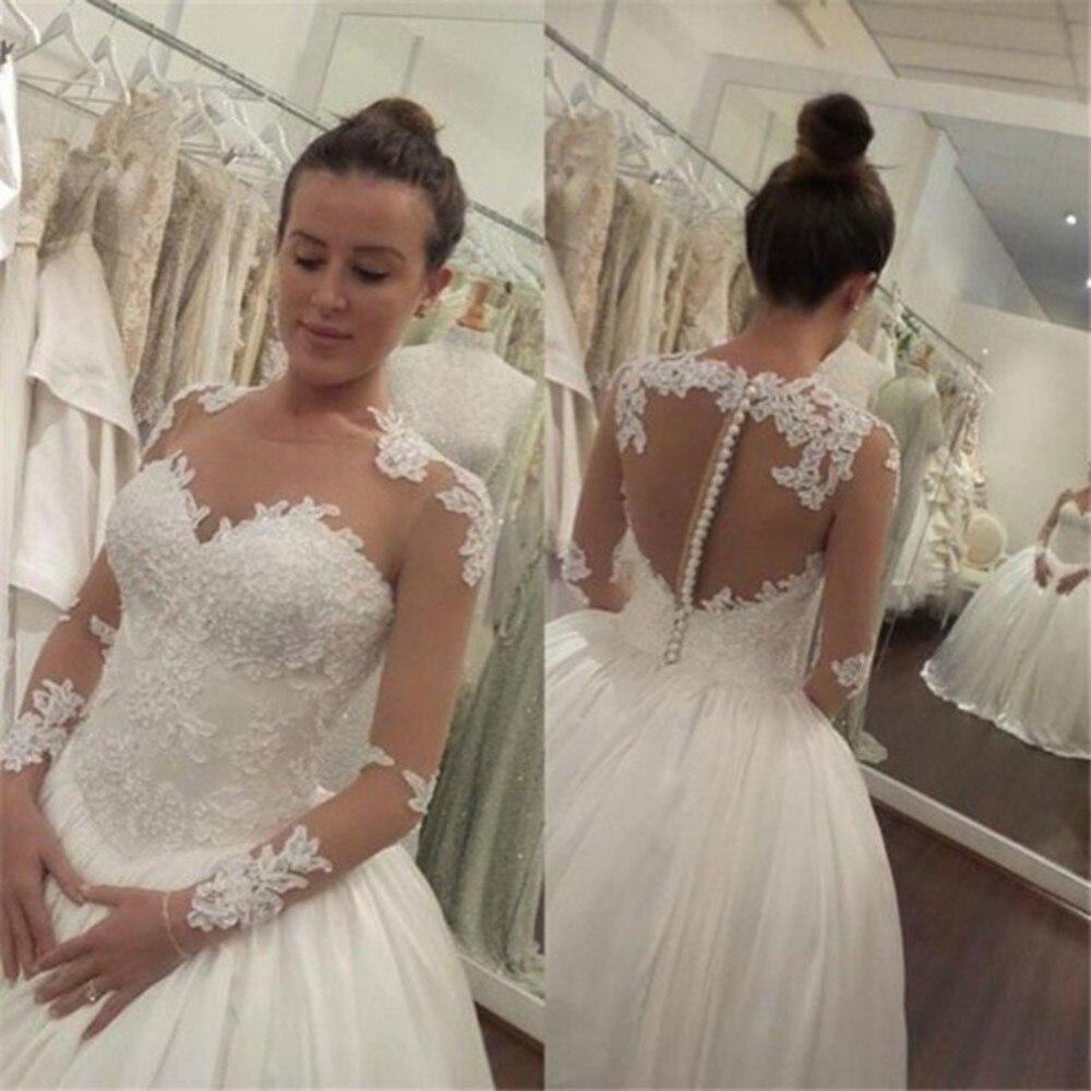 Country Western Wedding Dresses Latest Design Long Sleeve Bridal ...