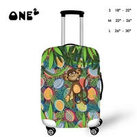 3D Funny Monkey Design Printing Cover Apply to 22,24,26 Inch Suitcase Elastic Travel Luggage Dust Case