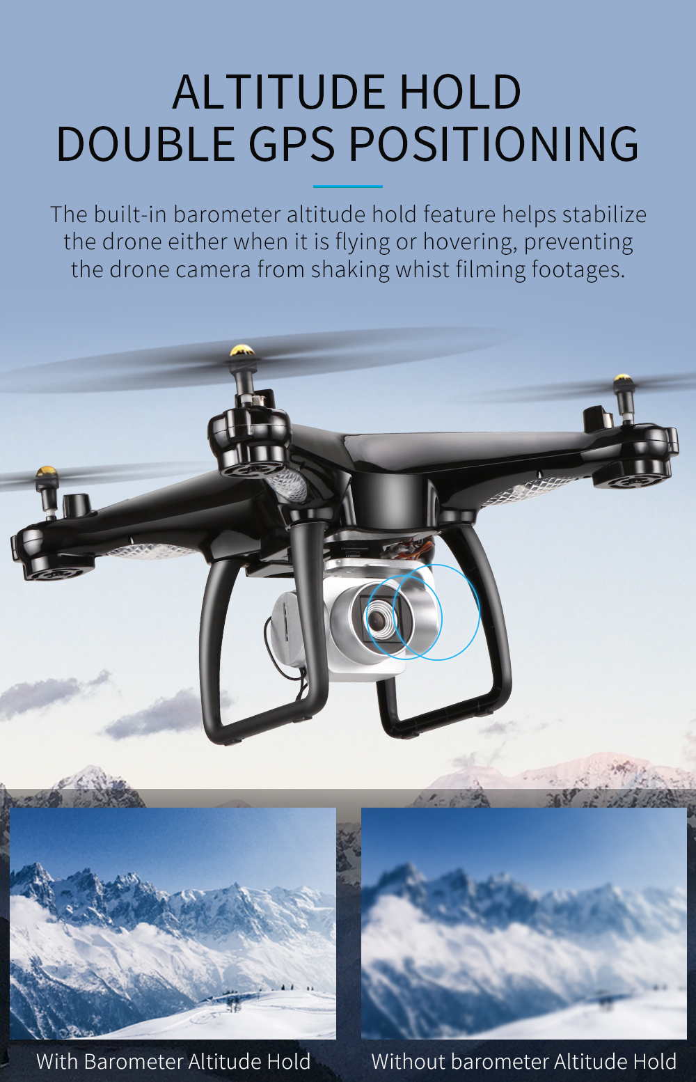 JJRC H68G GPS Drone With Camera 1080P HD 5G Wifi FPV Quadrocopter RC Helicopter Professional Dron Compass Auto Follow Quadcopter 11