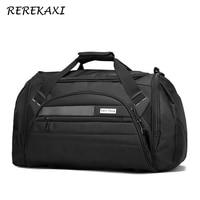 REREKAXI Men Travel Duffle Bag Women Voyage Bags Large Capacity Male Handbag Luggage Bag Female Waterproof Travel Shoulder Bags