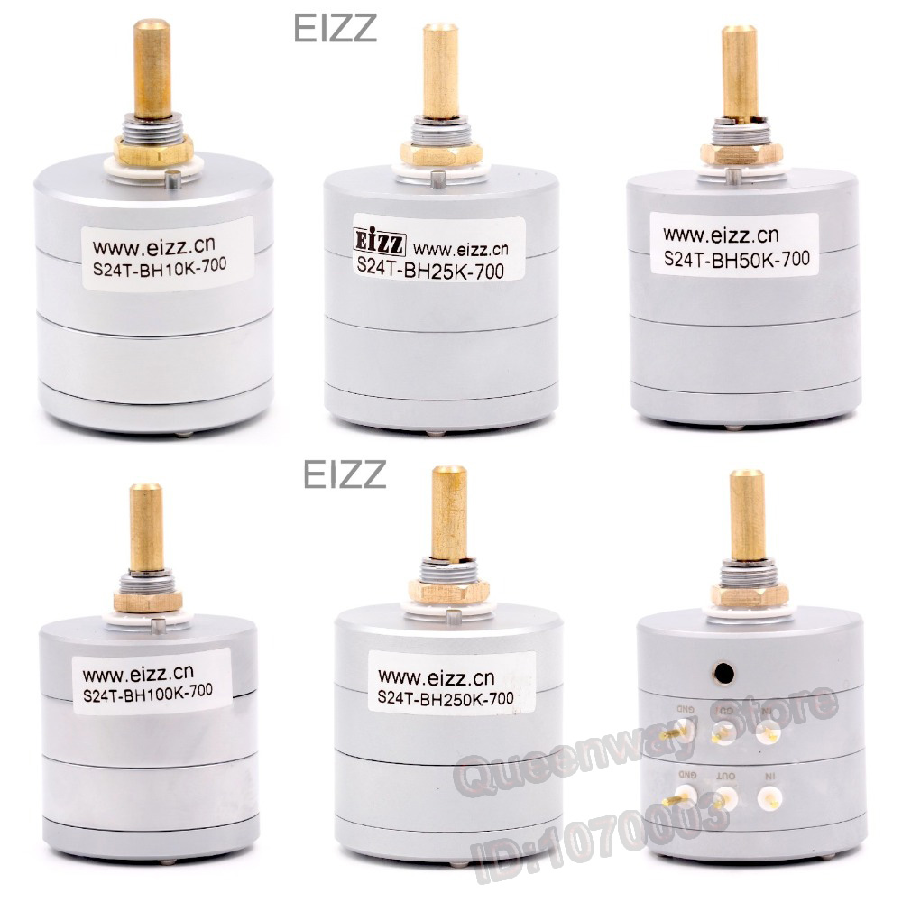 1PC EIZZ 24-Step Stereo Attenuator Volume Potentiometer Sound Control With 10K/25K/50K/100K/250K for choose