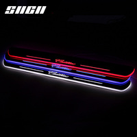SNCN Trim Pedal LED Car Light Door Sill Scuff Plate Pathway Dynamic Streamer Lamp Accessories For Cadillac XTS ATS CTS XT5 SRX