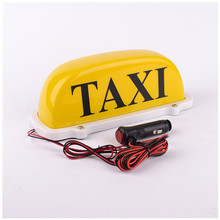 Taxi Cab Top  Lamp Magnetic Car Vehicle Indicator Lights|Taxi dome light yellow