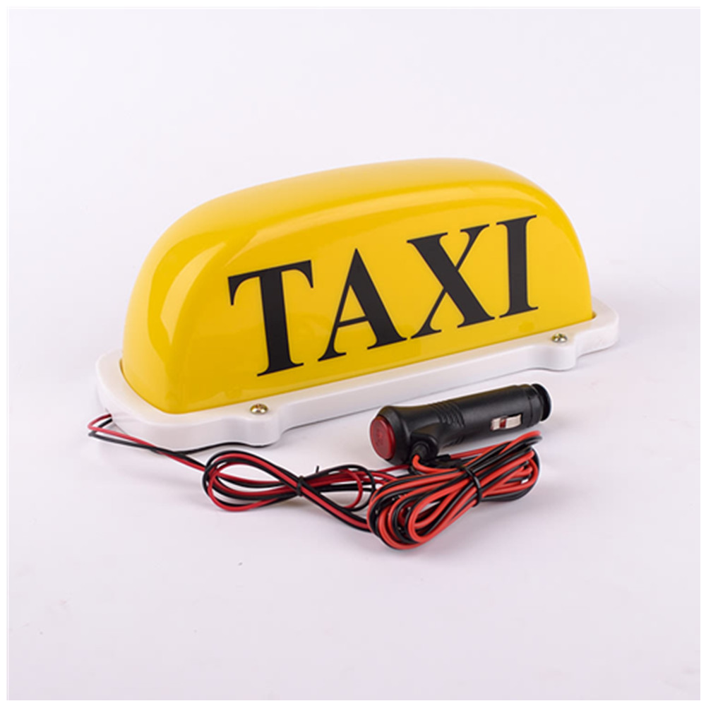 Taxi Cab Top Lamp Magnetic Car Vehicle Indicator LightsTaxi dome light yellow