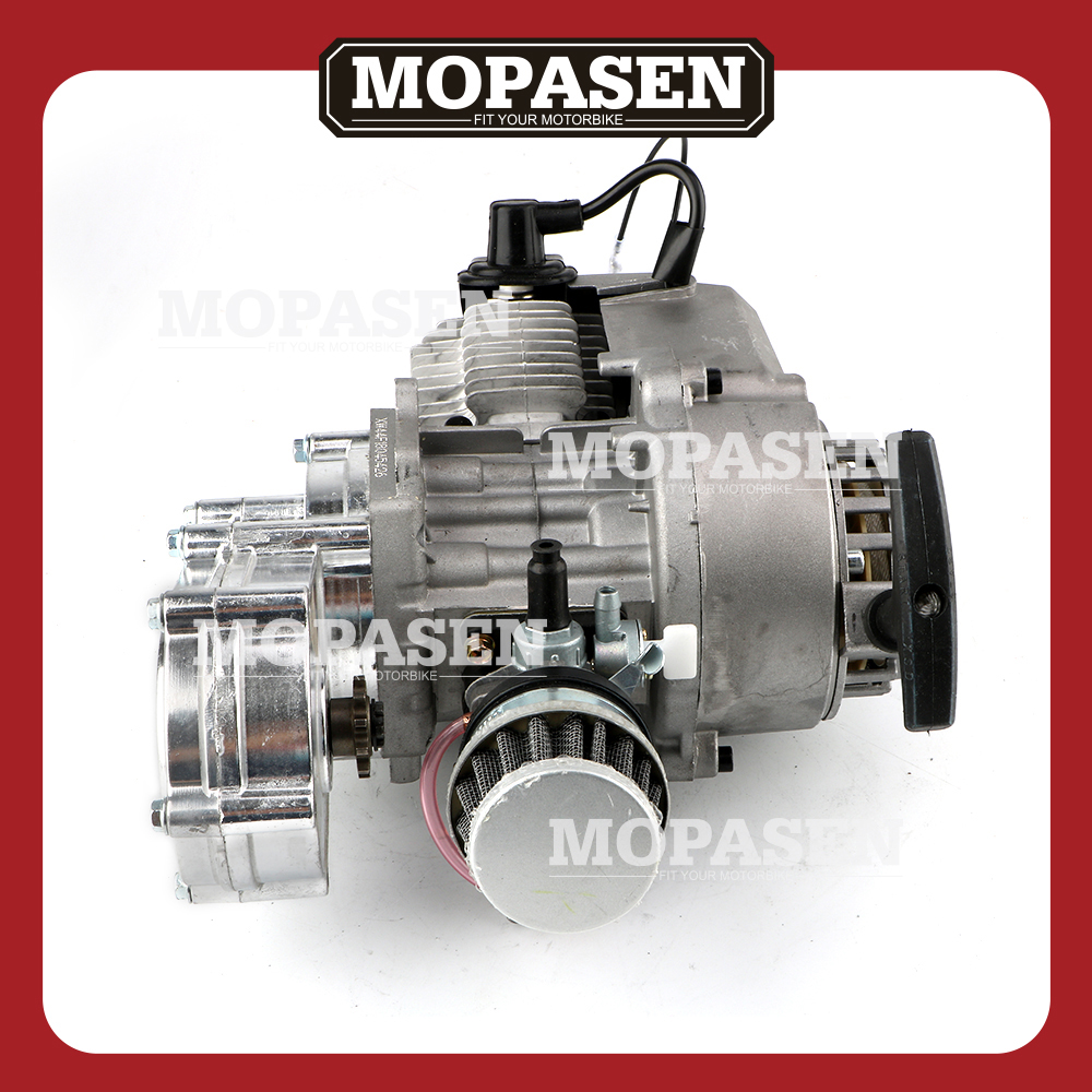 hight resolution of motorcycle 49cc 2 stroke engine motor pull start gear box for ssr sx50 qg50 qg50x and pocket mini atvs scooter pit dirt bikes in engines from automobiles