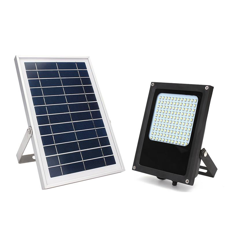15W 3528 SMD Solar Powered Panel Floodlight Body 120 LED Solar Light Sensor Outdoor Lighting Garden Landscape Spotlights Lamp ultrathin led flood light 200w ac85 265v waterproof ip65 floodlight spotlight outdoor lighting free shipping