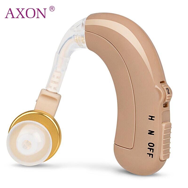 AXON Rechargeable Hearing Aid Son Amplificateur de Voix Tonalité Réglable Mini Dispositif pour Personnes Âgées Sourds Entendre une Voix Claire C-109