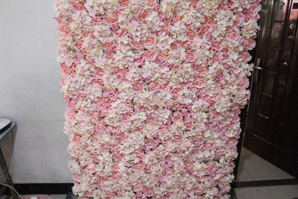 aliexpress com   buy artificial flower wall arch flower silk rose and hydrangea wedding