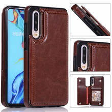 Luxury PU Leather Case For Huawei P30 Lite P30 Pro Case Card Holder Stand Flip Cover For Mate 20 Lite Mate 20 Pro Wallet Case