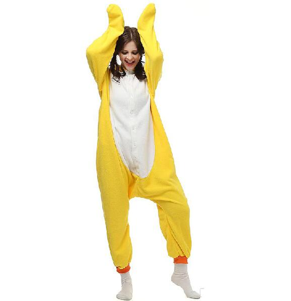 Yellow Duck Anime Cartoon Cosplay Party Costumes Comfy Leisure Animal Outfit Pajamas Jumpsuits Warm Halloween Unisex Homewear Ch