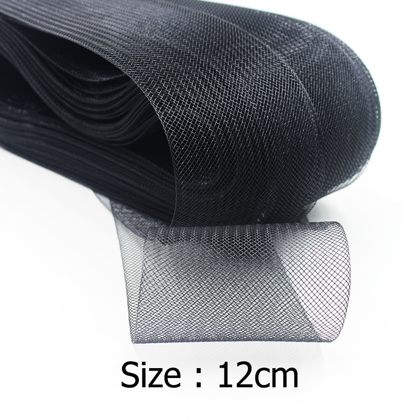 IuBuFiGo 4 7 quot 12 0cm Flat Stiff Hard Plain Crins Horsehair Crinolines Braid For Women Hat 100yard lot 2Color in Fabric from Home amp Garden