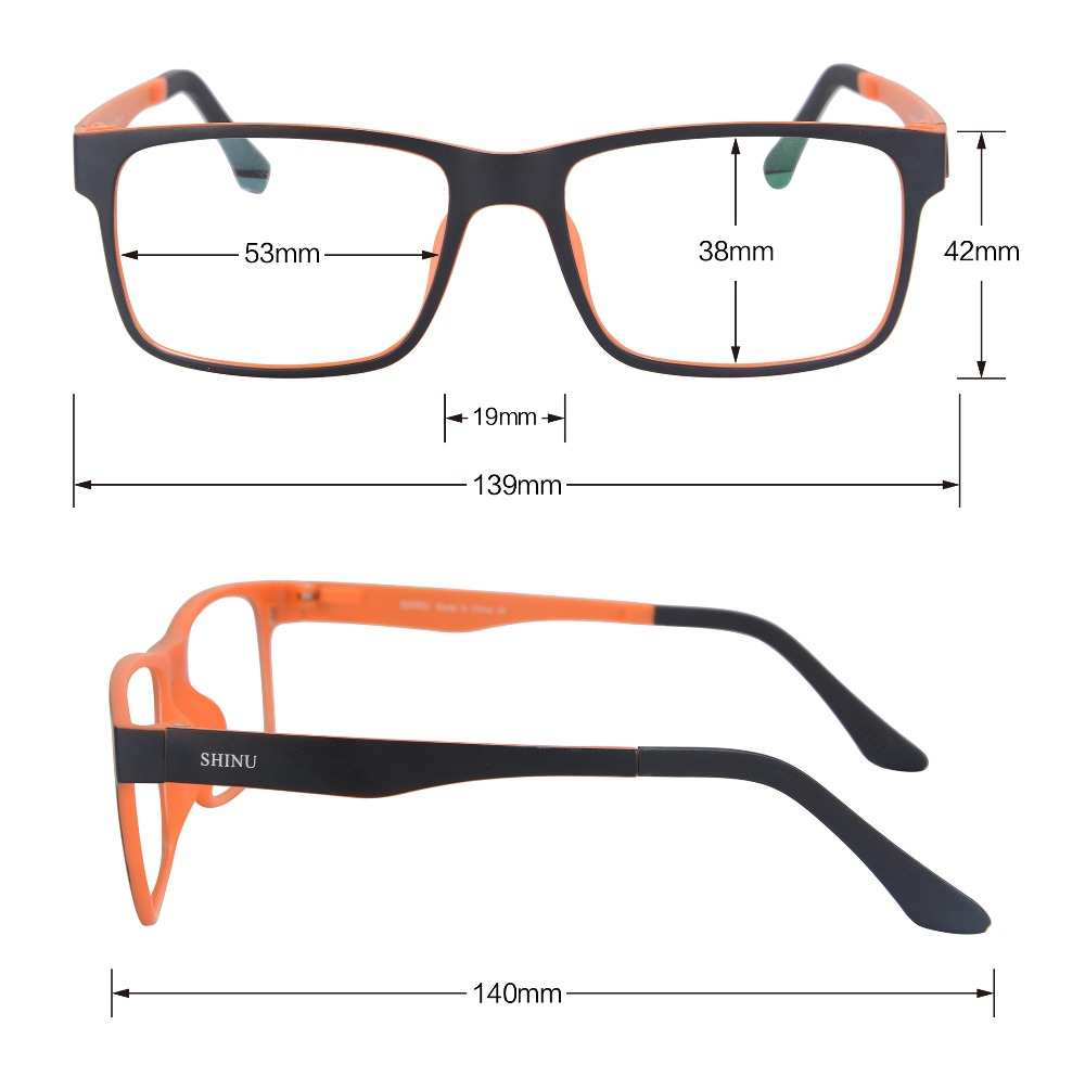 8910713b2a SHINU Magnetic Polarized Clip on Sunglasses with Optical Frame Prescription  Myopia Len Night Vision Glasses Driving Dual Purpose-in Sunglasses from  Apparel ...