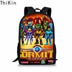 THIKIN fajne Gormiti torby szkolne dla chłopców dzieci dziewczyny tornister Plecak dzieci tornister Book Bag nastolatek Plecak Szkolny 2019 1