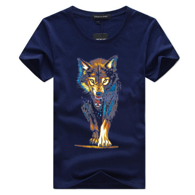 2018Hot Sale New Fashion Summer Fashion Men's T-shirt Printing 3D Men Tiger Short Sleeve Casual Men's T-shirts Plus Size Shirts