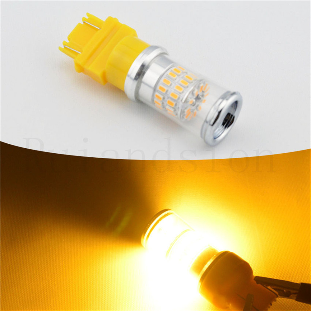 2xAmber White Red High Power T25 3157 5W 3014 Chip 48SMD Car Auto LED Turn Signal Brake Bulbs 12V 24VDC