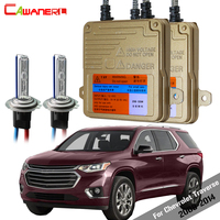 Cawanerl 55W Car Light Canbus HID Xenon Kit AC Ballast + Bulb Headlight Low Beam For Chevrolet Traverse 2009 2014