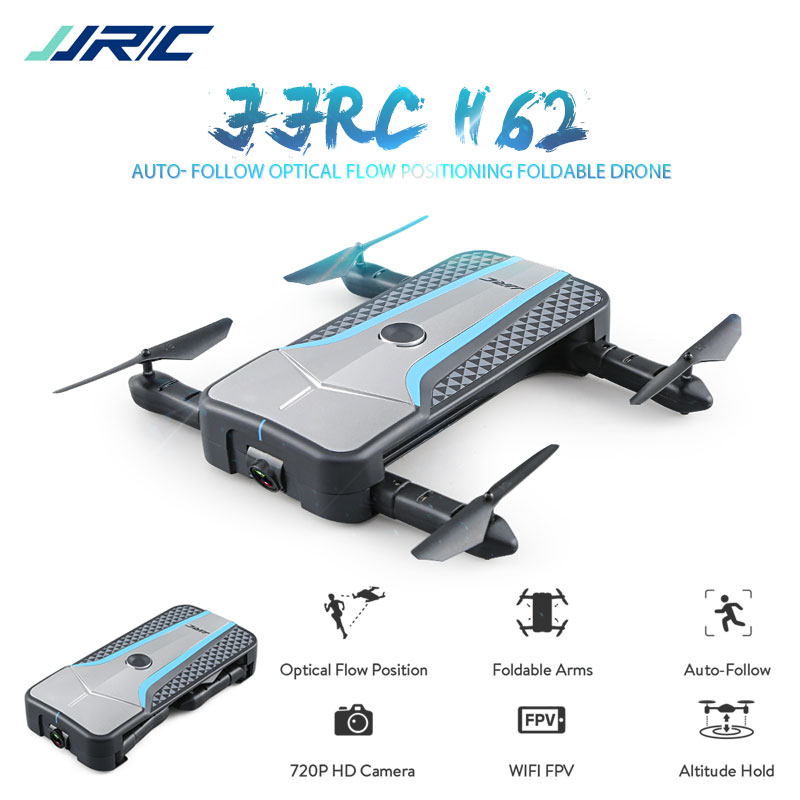 JJRC H62 RC Drone with WiFi FPV Camera Selfie Drone Optical Flow Positioning Quadcopter Auto Follow Me mini Dron RC Helicopter hr sh2hg rc drone fpv quadcopter headless mode optical flow positioning rtf helicopter selfie with 1080p wifi camera