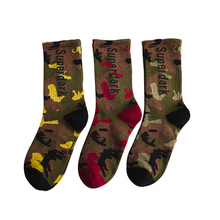 Men Women Cotton Fashionable Camouflage Lovers Spring Autumn Print Character Crew High Socks Individually Wrapped Casual