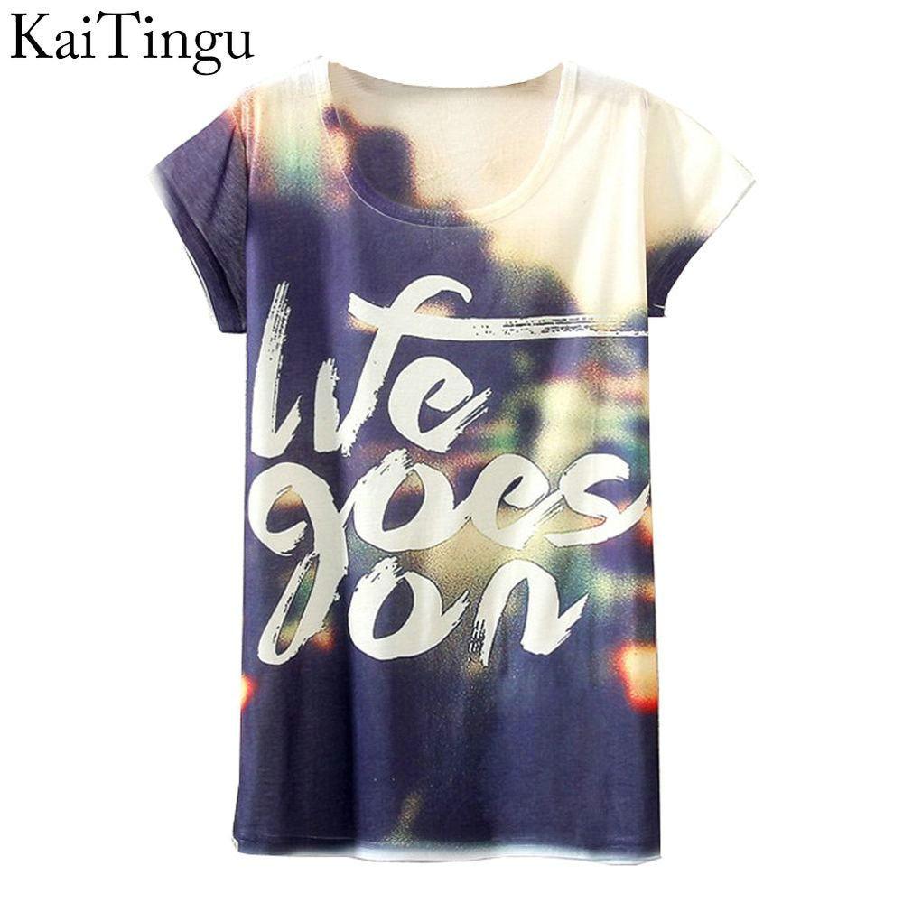 Kaitingu brand 2016 new fashion vintage spring summer for Digital printed t shirts