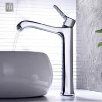 HIDEEP Mini Stylish Elegant Basin Mixing Basin Faucet For Bathroom Kitchen Deck Mounted Brass Vessel Sink